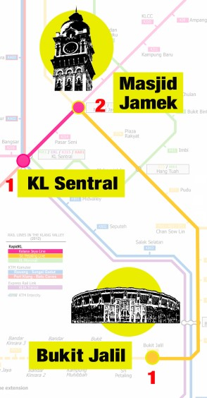 Kl Sentral to Merdeka Square