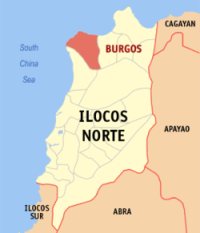Map of Burgos Ilocos Norte
